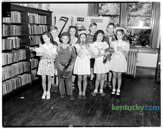 A children's party at the Lexington Public Library, May 19, 1946.