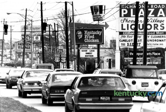 Richmond Rd., photographed across from McDonalds, looking outbound towards Patchen Village, March 15, 1984. Photo by Steven R. Nickerson |Herald-Leader staff