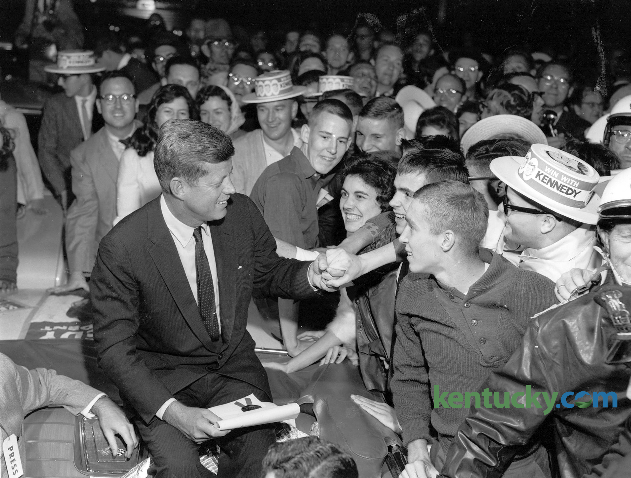 Jfk Campaigns In Lexington 1960 Kentucky Photo Archive