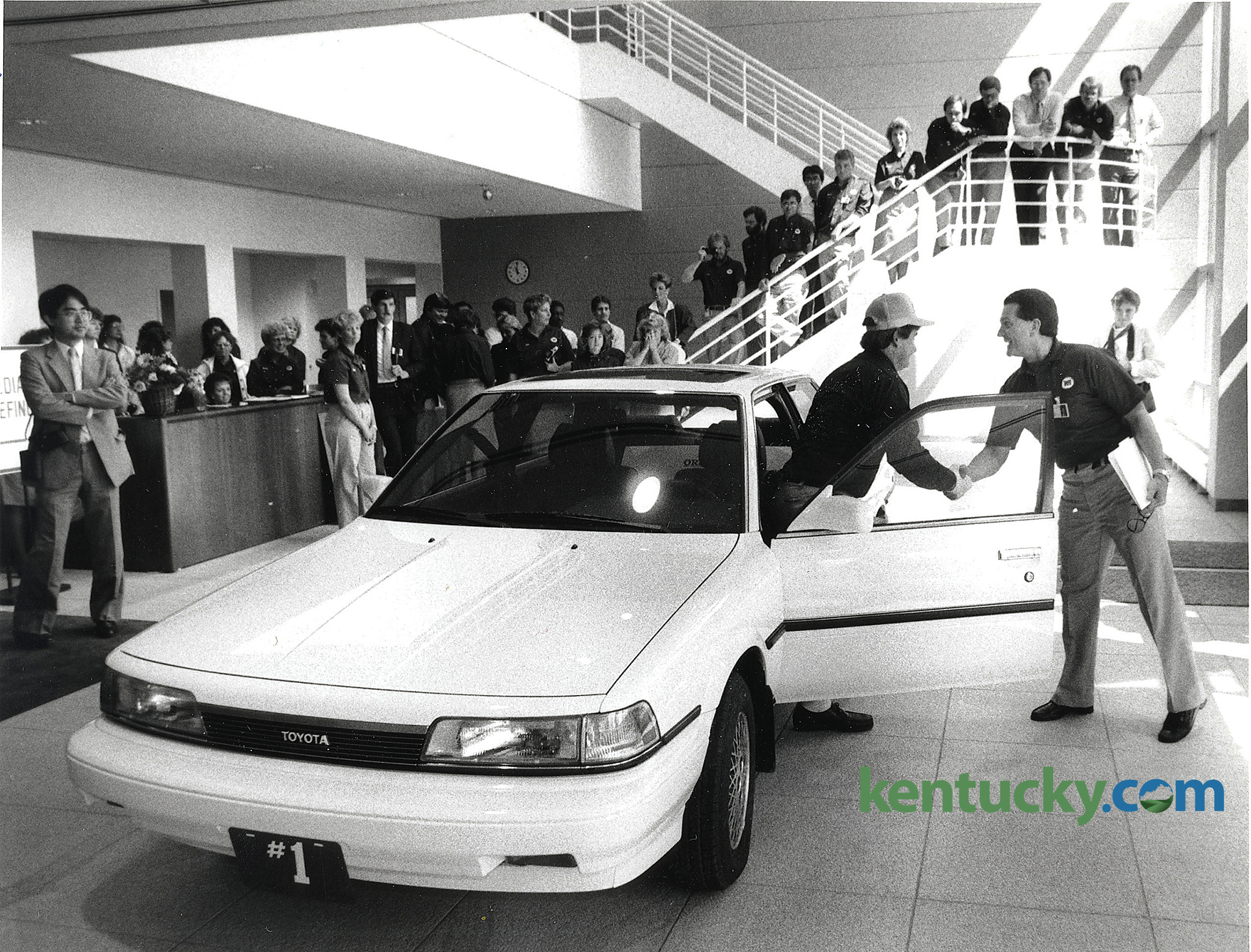 The First Toyota Camry Produced At The Toyota Motor Manufacturing, Kentucky,  Inc. Plant
