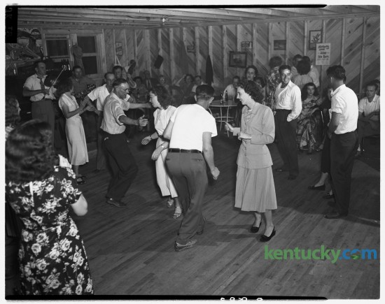 Clark County square dancers vied for the right to represent their county at a state-wide competition in 1948.  The Kentucky Press Association sponsored a day at Joyland Amusement Park in Lexington for the benefit of crippled children in August, 1948.