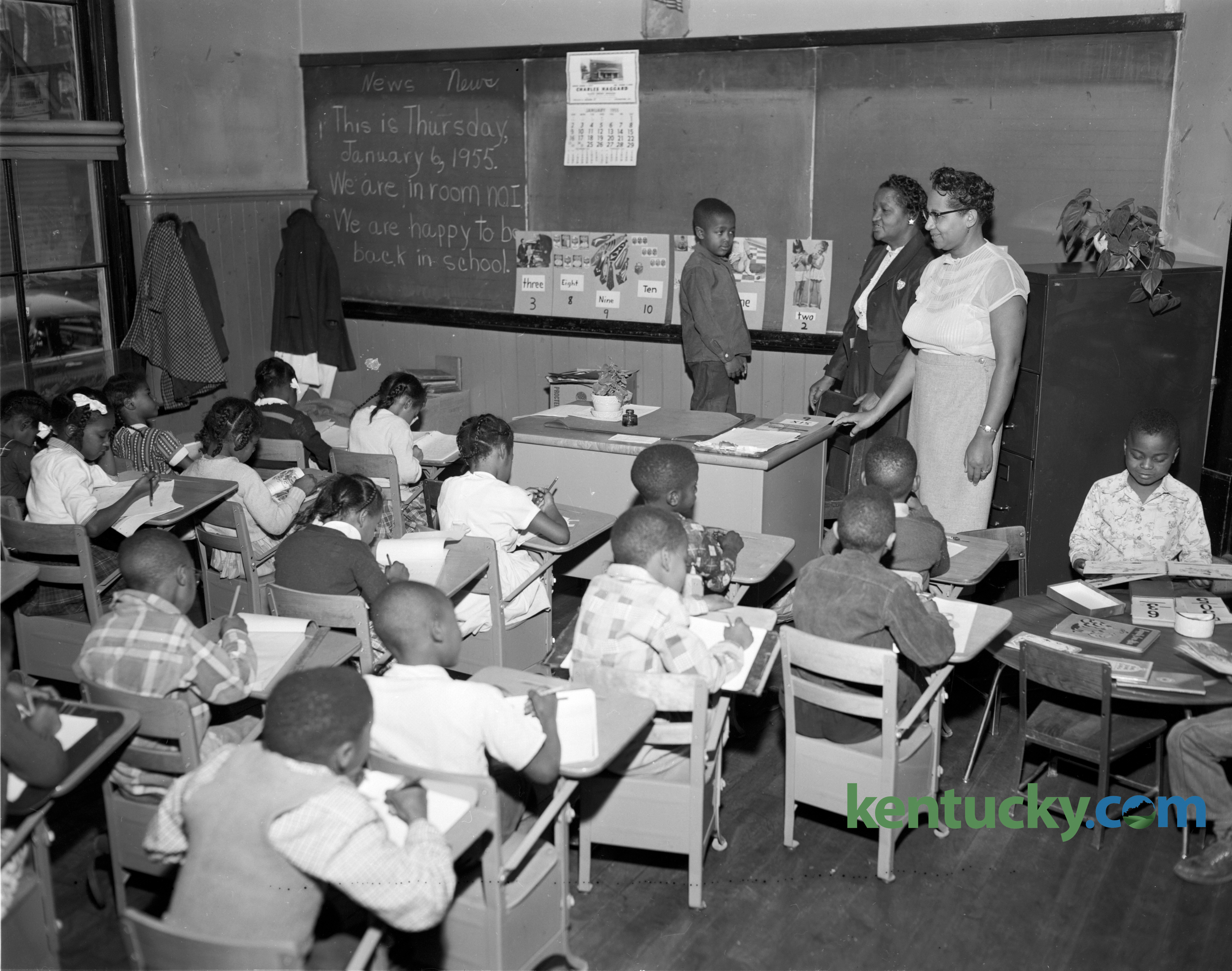 douglass elementary class moved 1955 kentucky photo archive