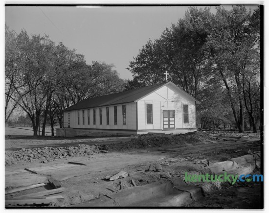 A photo taken in 1946 of the Christ the King Catholic Church in the Chevy Chase neighborhood. The pastor was Richard G. O'Neill. Published in the Lexington May 11, 1946.