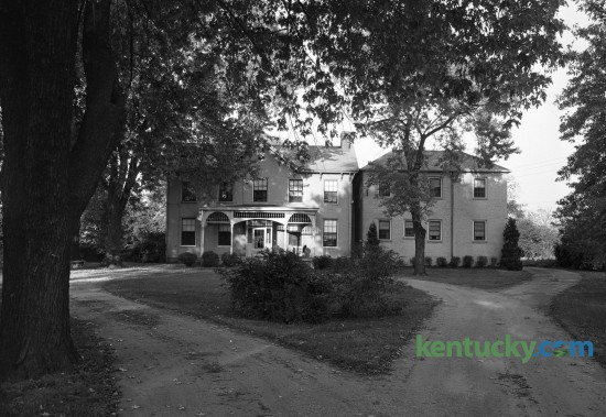 A 1947 view of the Thomas Grant house at 519 West Fourth Street in Lexington was built in 1823. It first  became a home for unwed girls about to become mothers in 1894.  Originally known as the Lexington House of Mercy, in 1921 it became  affiliated with a national organization called the Florence Crittenton Home.   Published in the Lexington Leader October 25, 1947. Photo by Ralph Looney | Staff