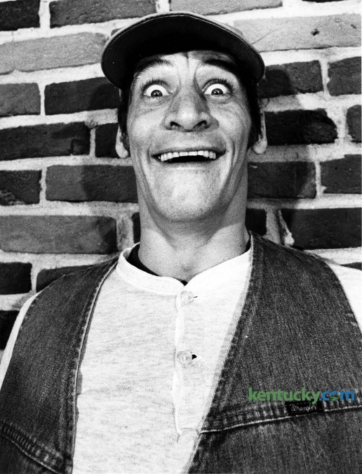 """Actor and comedian Jim Varney, February 1984. Varney made """"Know what I mean?"""" (said, essentially, as one word) part of our pop culture chatter as the fast-talking bumpkin Ernest P. Worrell. Before those days, the Lexington native was a regular on Bluegrass stages such as Studio Players and the Pioneer Playhouse. With his 'Hey Vern' character Ernest P. Worrell, he was featured in an extensive series of regional ads in the 1980s that eventually made Ernest a national presence, and served to provide financial stability for Varney after years of working to get by in gigs from standup comedy to stage to TV character acting. A heavy smoker, Varney died at 50 Feb. 10, 2000 after being diagnosed with lung cancer, but not before he took his homegrown persona on the big screen including Ernest Goes to Jail (1990), Ernest Scared Stupid (1991) and into roles such as Jed Clampett in the Beverly Hillbillies movie (1993) and as the voice of the slinky dog in the Toy Story (1995). Photo by Frank Anderson 