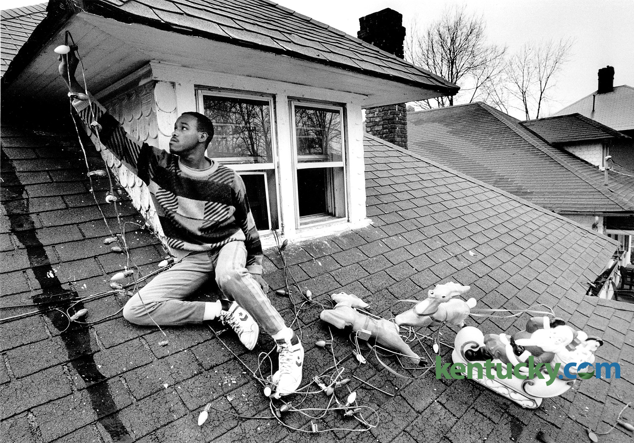 jim moore removed christmas decorations from the roof of his home in lexington at 148 east