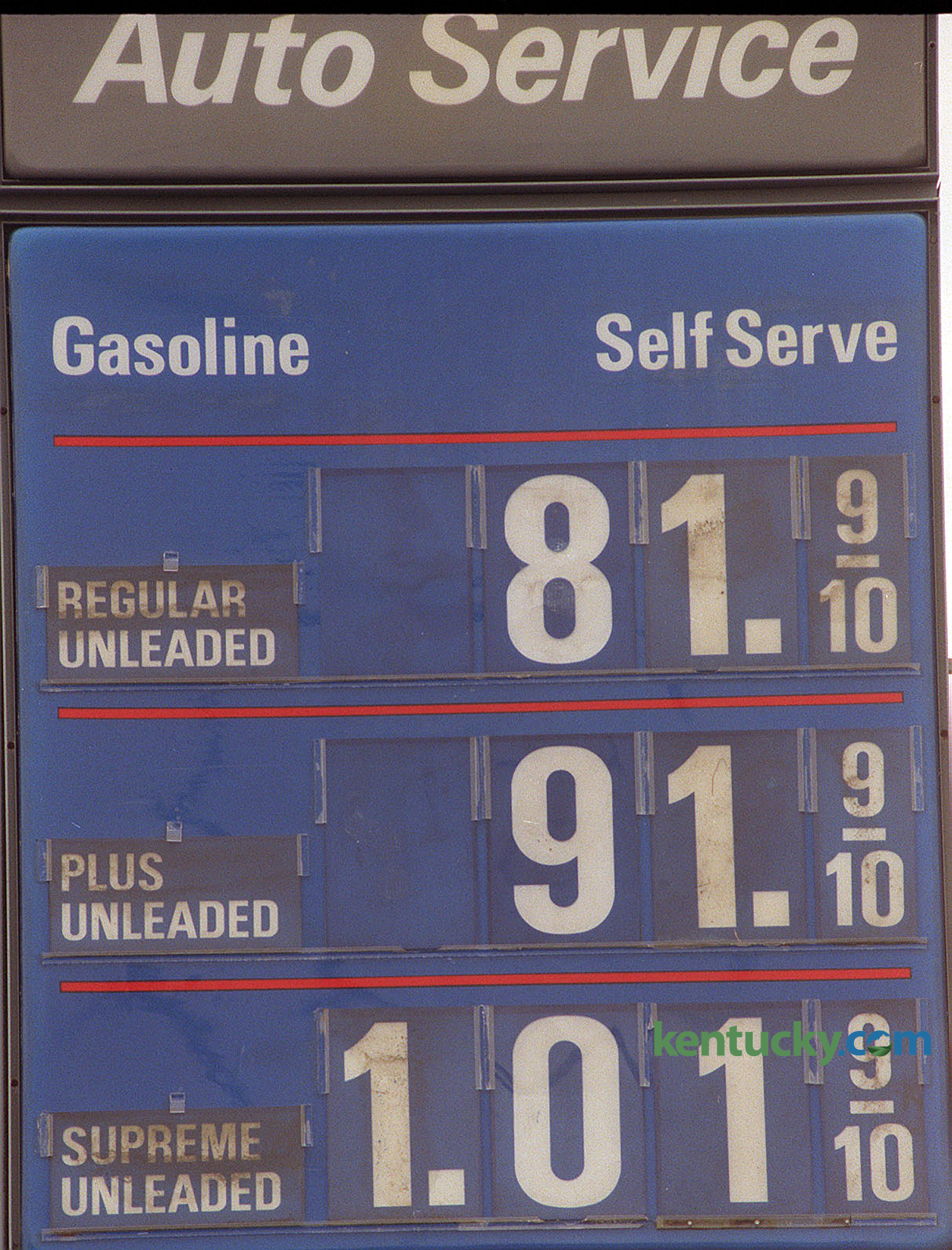 Gas Prices 1998
