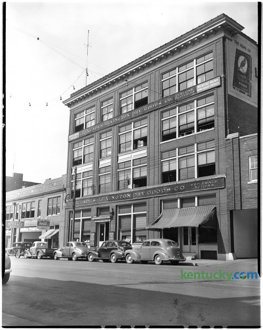 Undated photo of the Ades-Lexington Dry Goods Company building, 249 East Main Street. In 1977, the Ades family discontinued the dry goods business and the building became a warehouse. The site is now home to Portofino restaurant on the first floor and businesses such as Thomas & King Inc. Herald-Leader archive photo
