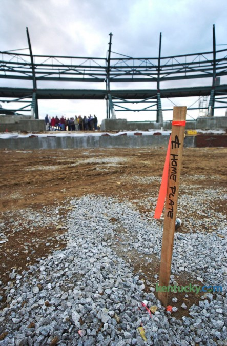 Home plate is staked-out as construction continues on the Lexington Legends minor league baseball field and stadium next to Northland Shopping Center Nov. 29, 2000. At the time of this picture, the Legends were less than five months from opening day. The stadium was named Applebee's Park for the team's first nine seasons. Since 2011 it has been called Whitaker Bank Ballpark. Thursday, April 16 is opening day for the Legends 2015 season. Photo by David Perry | staff
