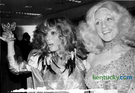 Renowned Lexington Derby party hostess Anita Madden, right, was joined by Las Vegas designer Suzy Creamcheese prior to the Madden's Derby Eve party May 2, 1980. Many of Madden's elaborate gowns were designed by Suzy Creamcheese. Photo by E. Martin Jessee | Staff