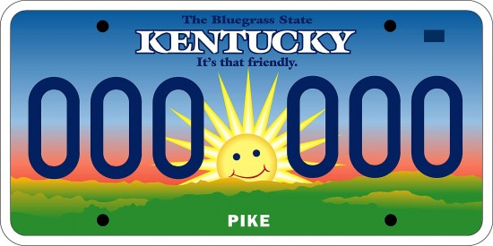 """The Mr. Smiley license plate unveiled by Kentucky Gov. Paul Patton Dec. 27, 2002 was met with discontent and ridicule for the less than two years it was in service. Drivers found ways to distort Mr. Smiley's visage, including drawing a mustache on it, or covering it with a frowning-face sticker or duct tape. State police said that was OK, as long as the letters and numbers on plates are not obscured. Despite widespread critisim of Mr. Smiley, some groups benefited from his unpopularity. Sales of specialty plates skyrocketed in 2003, even though drivers have to pay more for them. Beginning Jan. 1, 2005, the sunshine plates were replaced by the """"Unbridled Spirit"""" tags currently being used."""