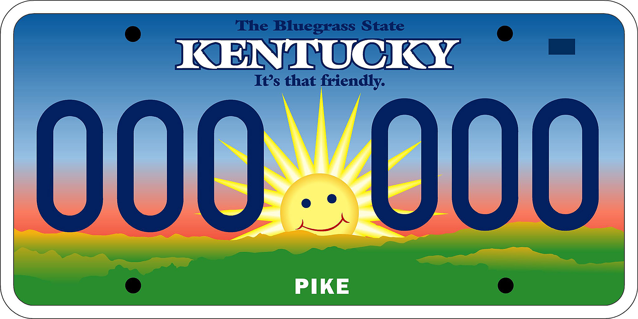 Mr. Smiley license plate, 2002 | Kentucky Photo Archive