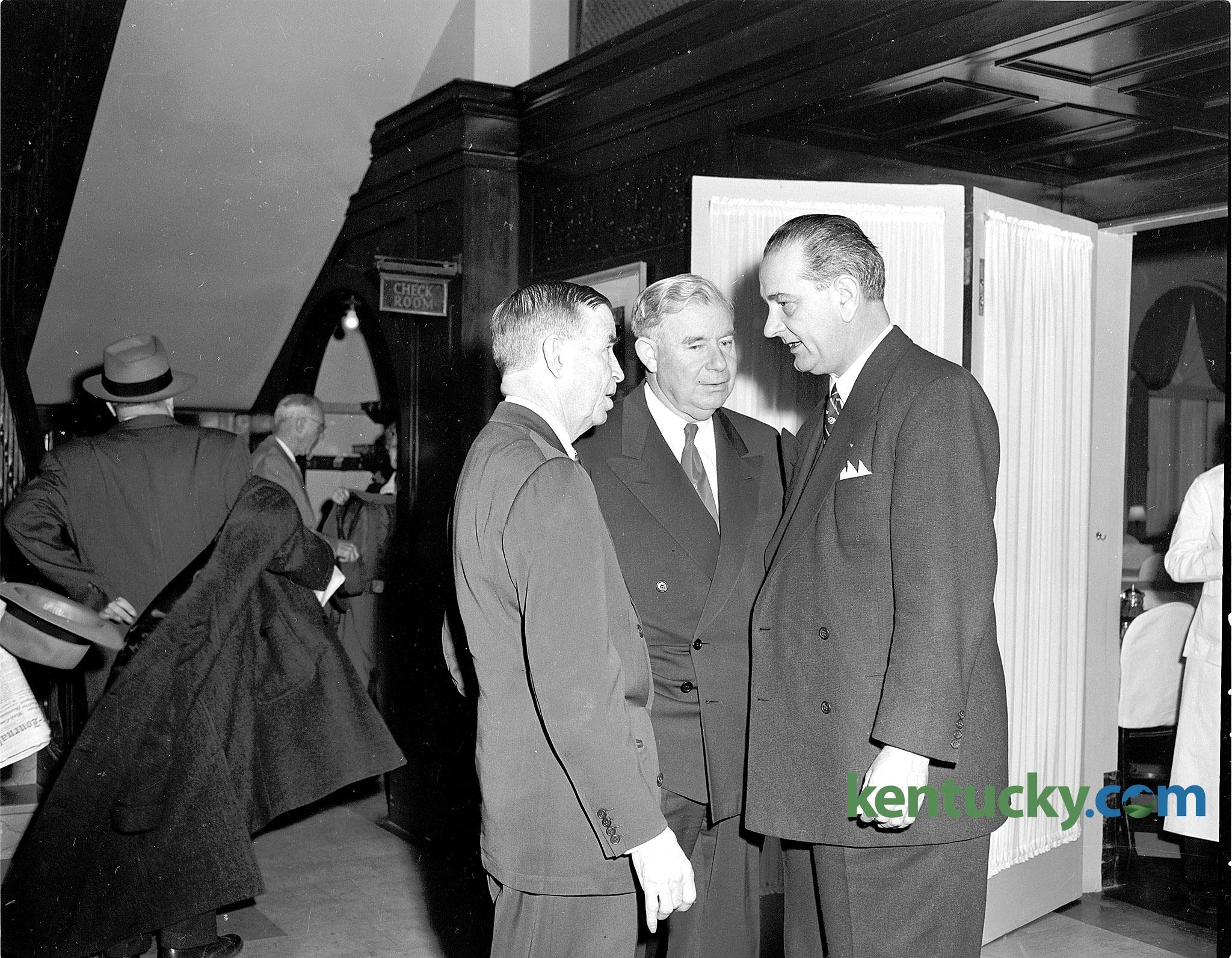 Lyndon johnson at funeral of kentucky senator 1951 for A m motors paris ky
