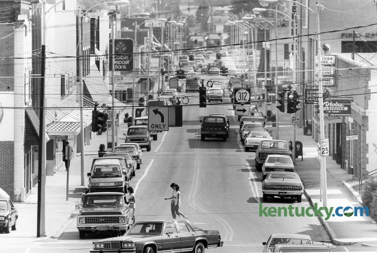 Downtown Corbin, Ky., Sept. 10, 1985. Photo by Bruce Thorson