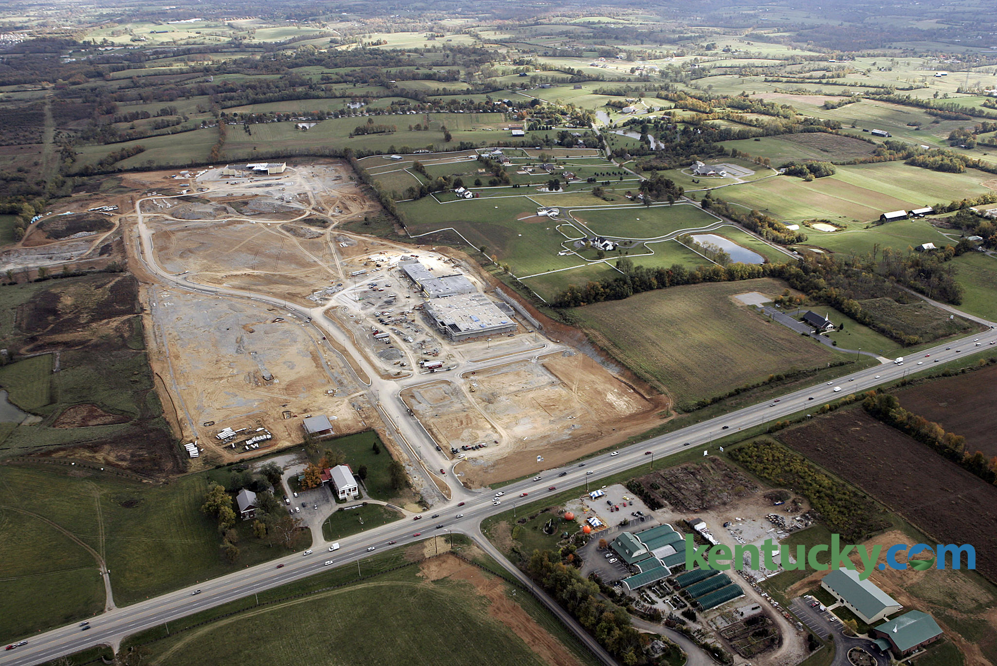 brannon crossing shopping center kentucky photo archive aerial view of a the brannon crossing shopping center development friday oct 28