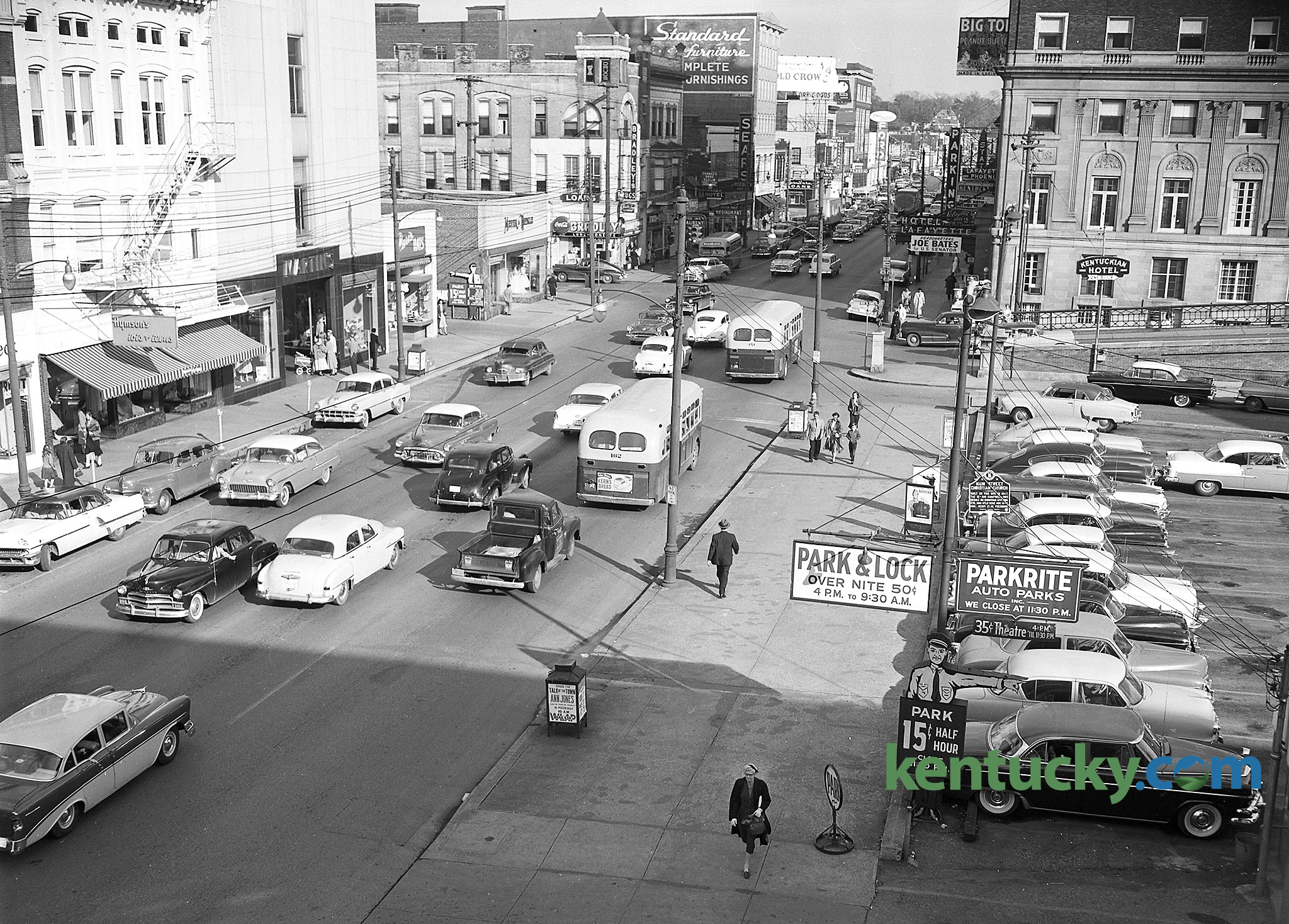 East Main Street downtown Lexington 1956