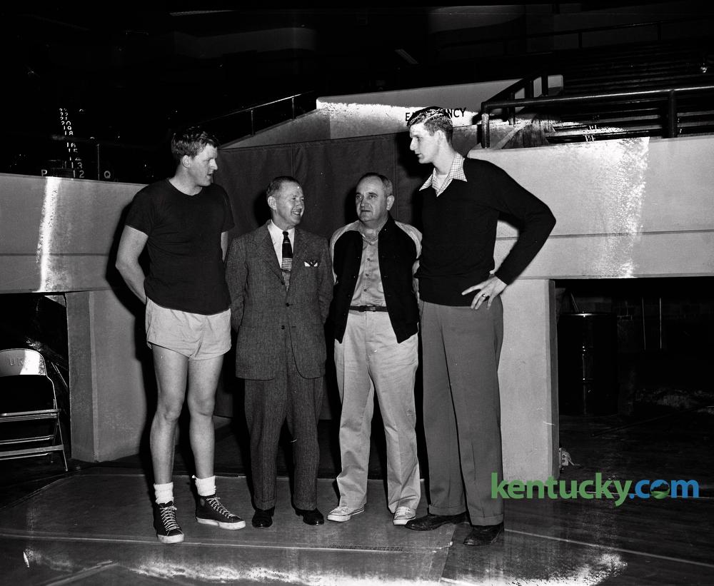 Before the Kentucky Kansas game 1950