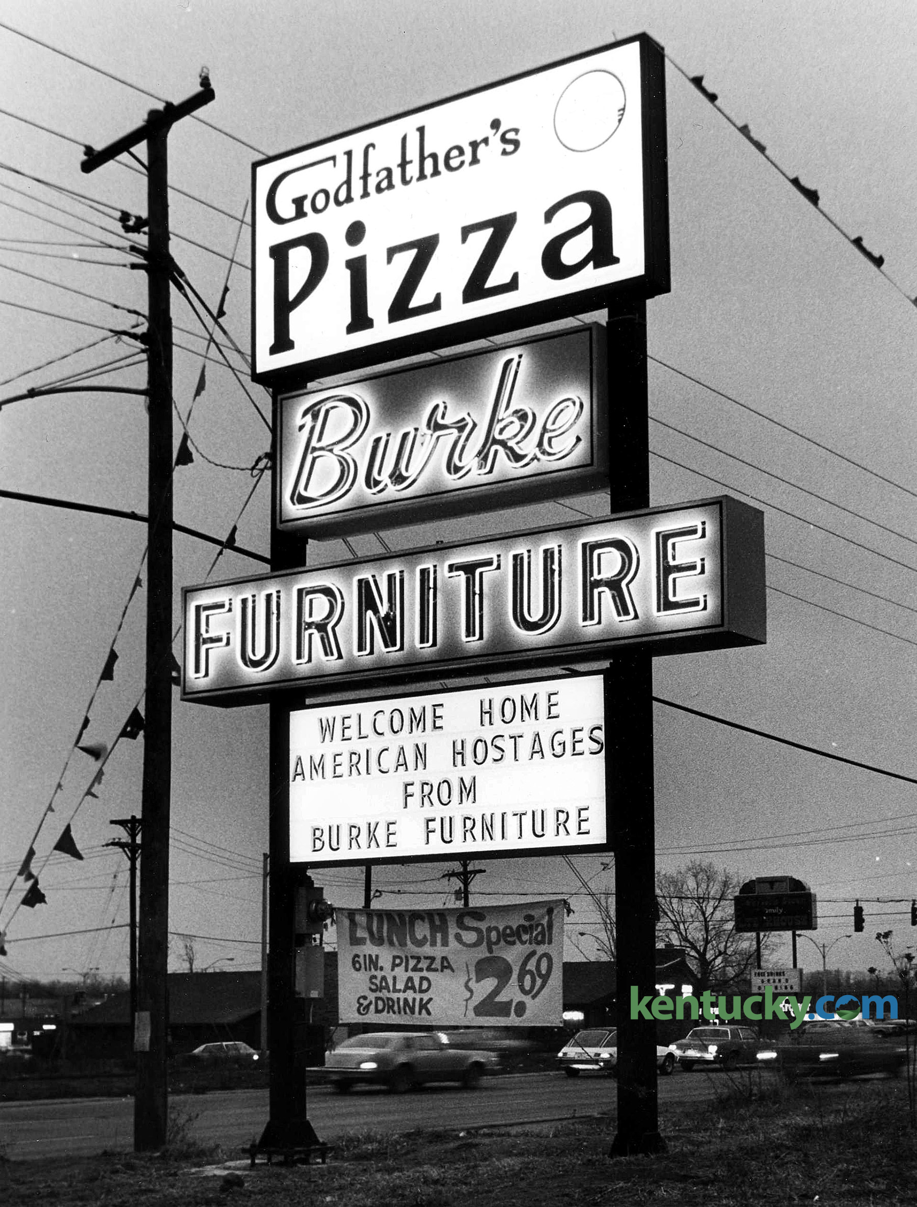 A Sign At 2950 Richmond Road In Lexington Jan 20 1981 Celebrating