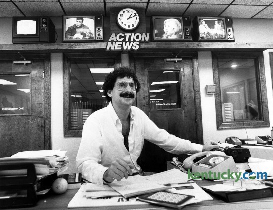 Alan Cutler in the WLEX-18 newsroom, Dec. 5, 1981. Photo by Frank Anderson | staff