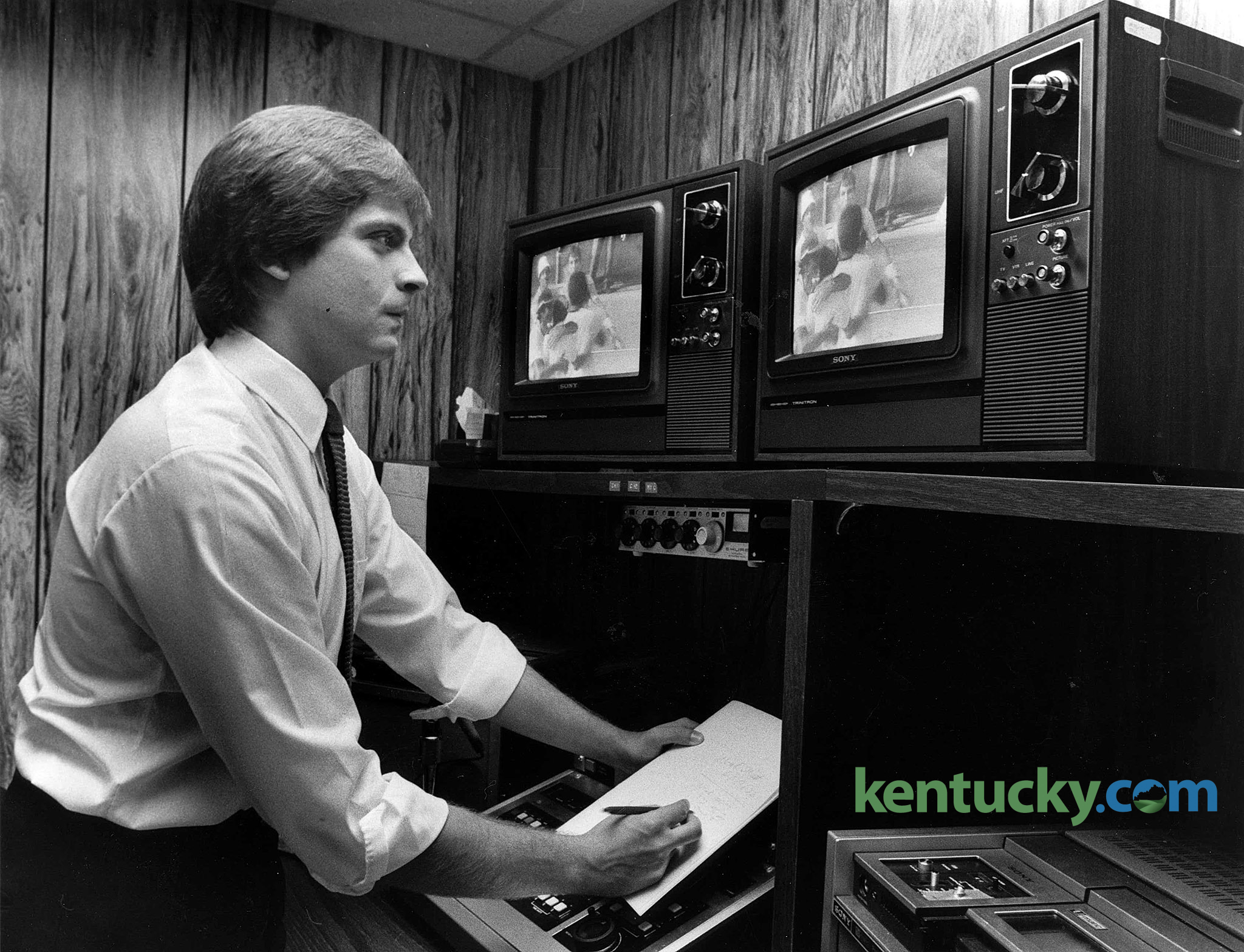 Lexington Tv Sportscasters 1981 82 Kentucky Photo Archive