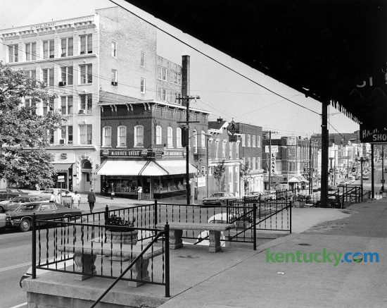 Downtown Winchester, looking at the intersection of South Main Street and Cleveland Ave., Oct. 1975. The photo was taken across the street from the Clark Counrty Courthouse. Photo by John C. Wyatt   staff