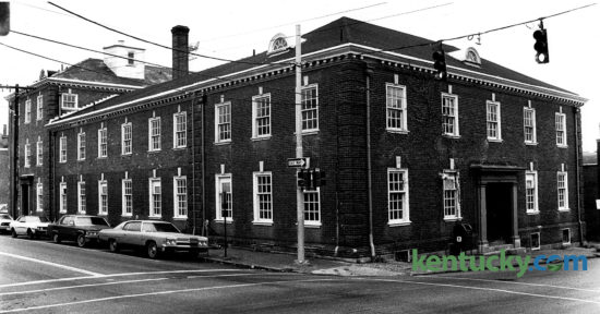 The building that was to become Gratz Park Inn on North Upper Street sat empty in this November 22, 1982 photo. Developers were proposing to build a luxury hotel in what was then known as the Fuller Building. Prior to that it was the original location of the Lexington Clinic, which was founded in 1920. After the clinic moved to Harrodsburg Road in 1958, the Fuller Engineering firm occupied the building. The firm move out in 1976 and the building sat empty  until the 44-room hotel opened in July 1987. Photo by Ron Garrison | Staff